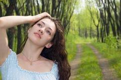 Mädchen an der Landschaft 4 Lizenzfreie Stockfotos
