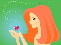 Mädchen in der Liebe Vektor Abbildung