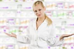 Mädchen in der medizinischen Klage Stockbild