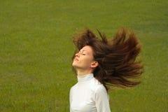 Mädchen in der Natur. Stockfoto