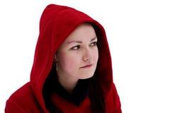 Mädchen in der roten Haube Stockfotos