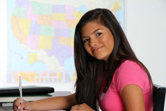 Mädchen an der Schule Lizenzfreie Stockfotos