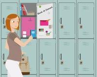Mädchen in der Schule stock abbildung