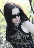 Mädchen in der Sonnenbrille Lizenzfreies Stockbild