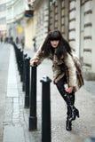 Mädchen in der Straße Lizenzfreies Stockfoto