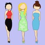Mädchen in der unterschiedlichen Kleidung Lizenzfreie Stockfotografie