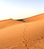 Mädchen in der Wüste Stockbilder