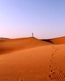 Mädchen in der Wüste Lizenzfreie Stockbilder