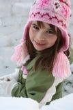 Mädchen in der Winterkleidung Stockfotografie