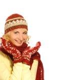 Mädchen in der Winterkleidung Lizenzfreie Stockfotografie
