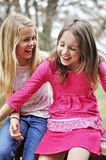 Mädchen, die hysterisch lachen stockfotografie