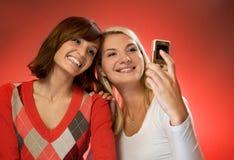 Mädchen, die Selbstportrait bilden Stockfoto