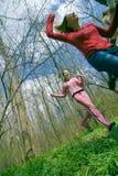 Mädchen, die Spaß haben   lizenzfreie stockbilder