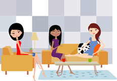 Mädchen drei vektor abbildung