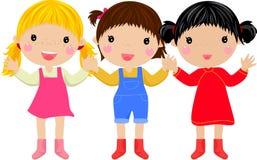 Mädchen drei stock abbildung