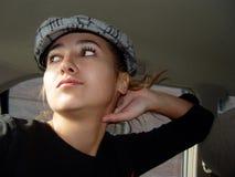 Mädchen in einem Auto Lizenzfreie Stockfotografie