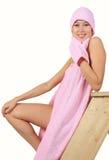 Mädchen in einem Bad Stockbilder