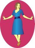 Mädchen in einem blauen Kleid Stockfoto