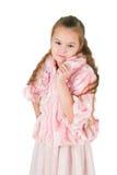 Mädchen in einem rosa Kleid Lizenzfreies Stockfoto