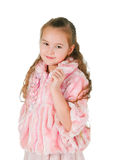 Mädchen in einem rosa Kleid Stockbilder