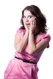 Mädchen in einem rosafarbenen Kleid Stockfoto