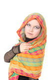 Mädchen in einem Schal Lizenzfreie Stockbilder