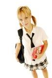 Mädchen in einer Schuluniform lizenzfreie stockfotos