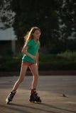 Mädchen-Eislauf stockfotos