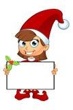 Mädchen-Elfen-Charakter im Rot Lizenzfreie Stockfotos