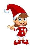 Mädchen-Elfen-Charakter im Rot Stockfotos