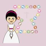 Mädchen-erste Kommunion Lizenzfreies Stockfoto