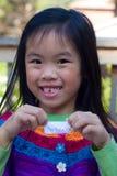 Mädchen-fehlender Zahn Stockbild