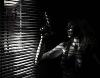 Mädchen-Film Noir Stockbilder