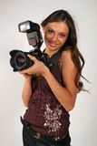 Mädchen - Fotograf lizenzfreies stockfoto