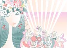 Mädchen - Frühling Stockbild