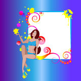 Mädchen frame2 stock abbildung