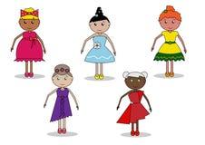 Mädchen, Frauen, Puppen lizenzfreie abbildung