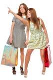 Mädchen Freundin in der der Verkauf zeigt Stockfotos
