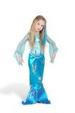 Mädchen gekleidet als Meerjungfrau Stockbild