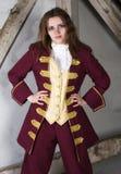 Mädchen gekleidet als Prinz stockfotografie
