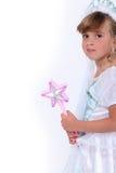 Mädchen gekleidet als Prinzessin Stockbild