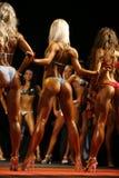 Mädchen gekleidet im Badeanzugeignungsbikini lizenzfreies stockfoto