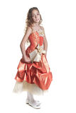 Mädchen gekleidet wie eine Prinzessin Lizenzfreie Stockfotografie