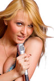 Mädchen-Gesang Lizenzfreies Stockfoto