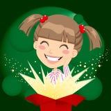 Mädchen-Geschenk-Überraschung stock abbildung