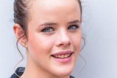 Mädchen-Gesichts-Augen stockfotos
