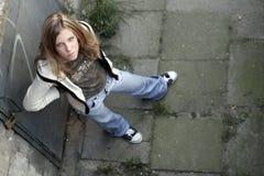 Mädchen - Grunge Art Stockbilder