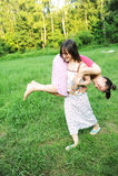 Mädchen haben Spaß Stockbild