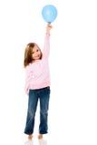 Mädchen-Holding-Ballon Lizenzfreie Stockfotografie
