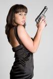 Mädchen-Holding-Gewehr lizenzfreies stockfoto